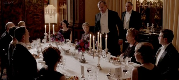 downton abbey dinner scene