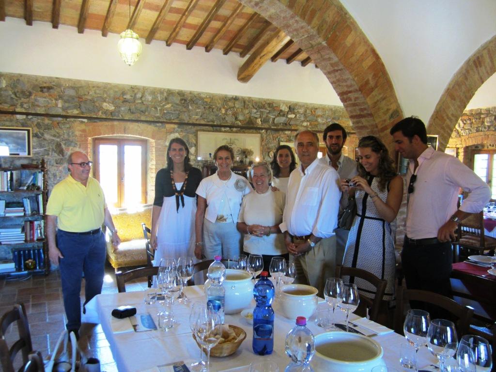 Maria Raventos e famiglia al Casato