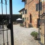 Cancello del cortile fattoria del Colle