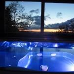 tramonto nella vasca idromassaggio