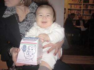 Il bambino di Tomoko con il pandorino Leo