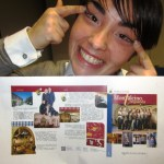 Violante Gardini with the chinese brochure