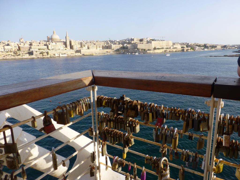 Malta lucchetti dell'amore