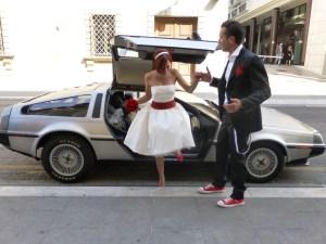 Marco Bondioli sposo galante con Bonella