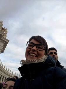 Violante Gardini in Piazza San Pietro