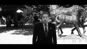 Alessandro Falassi e il cavallo di Sandro Chia da lui donato