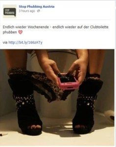 smartphon sul wc