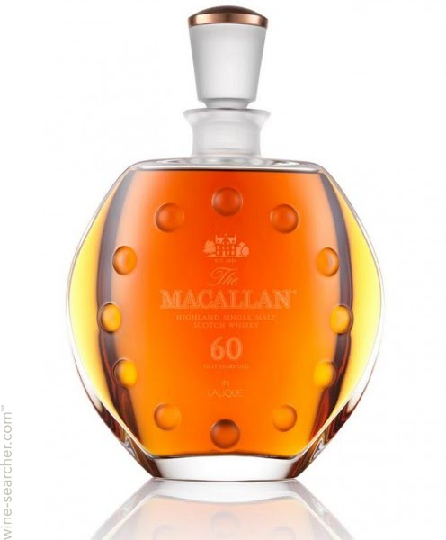 the Macallan Lalique 60 year old single malt scotch whisky speyside highlands Scotland