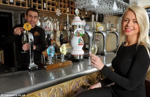 Prosecco on tap at the pub