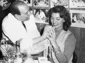 Alfredo di Lelio e Sofia Loren