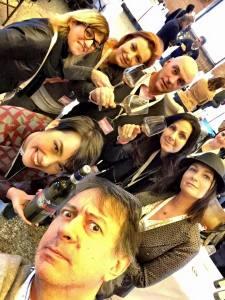 Wine& Siena Social team di #sienaMWF con Violante Cinellicolombini Jr e il Brunello Prime Donne