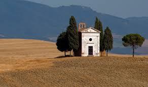 Panorami in Toscana Cappella di Vitaleta