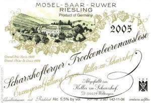 Riesling Egon Muller Scharzhof Scharzhofberger riesling trockenbeerenauslese