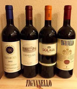 Sassicaia, Ornellaia, Tignanello
