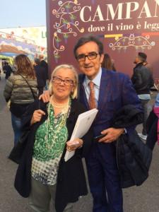 Vinitaly2017-Donatella-Cinellicolombini -RiccardoCotarella-Presidente-Assoenologi