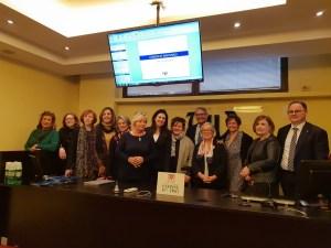 Donatella-CinelliColombini-all'UIV-con-Donne-del-vino-Presidente-Abbona-Direttore-Castelletti