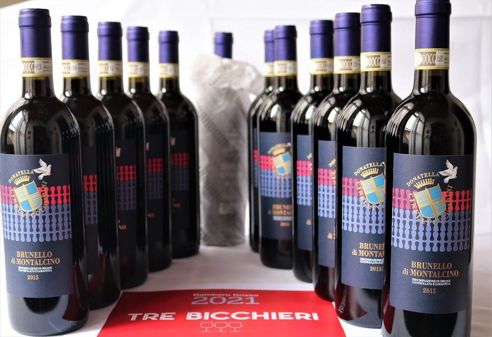 Tre bicchieri Brunello 2015 offerta