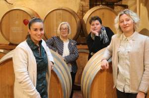 2020 new staff of Donatella Cinelli Colombini's wineries with 3 winemakers: Giada, Barbara and Sabrina