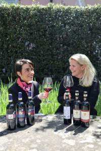 Violante Cinelli Colombini and Sofia Ruhne from Terreno winery with their fine red wines