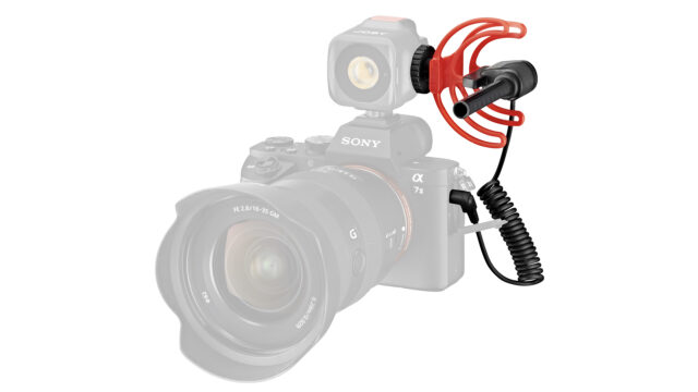 JOBY Wavo attached to a headlight on Sony A7II (Credits: Vitec Group / JOBY)