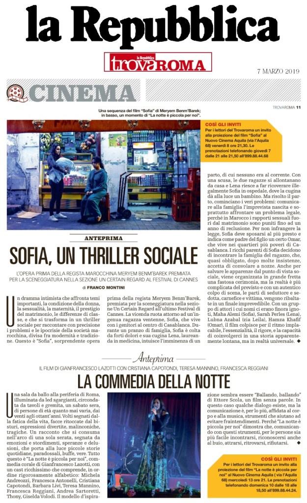 Trovaroma | 7/3/2019 | Sofia, un thriller sociale
