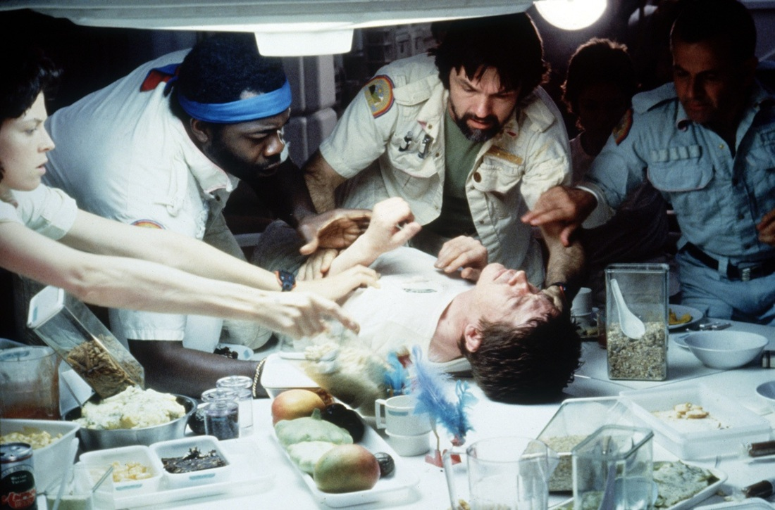 Image result for alien chestburster scene