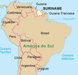 Suriname – Mapa