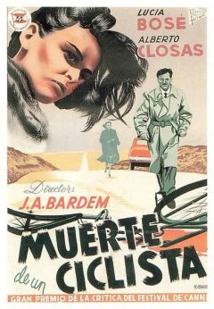 J.A. Bardem - Muerte de un ciclista (cartel)