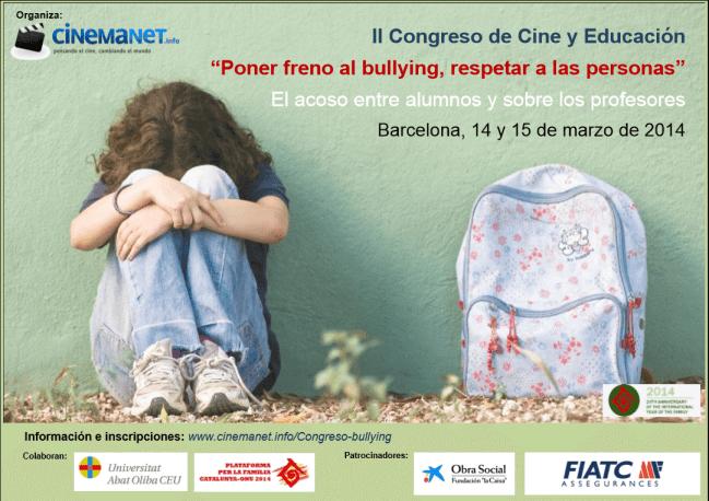 Cartel II Congreso Cine y Educación 2014: Bullying