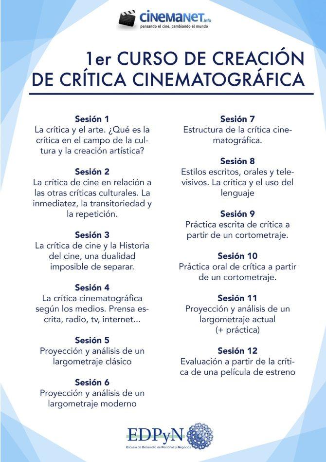 CinemaNet Curso de Crítica Cine Villalobos EDPyN