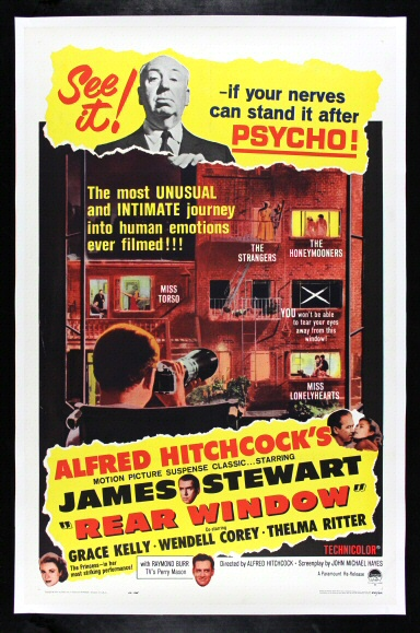 details about rear window cinemasterpieces original alfred hitchcock movie poster 1962r