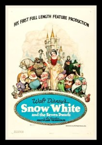 SNOW WHITE AND THE 7 SEVEN DWARFS ✯ 1937 CineMasterpieces MOVIE POSTER DISNEY | eBay