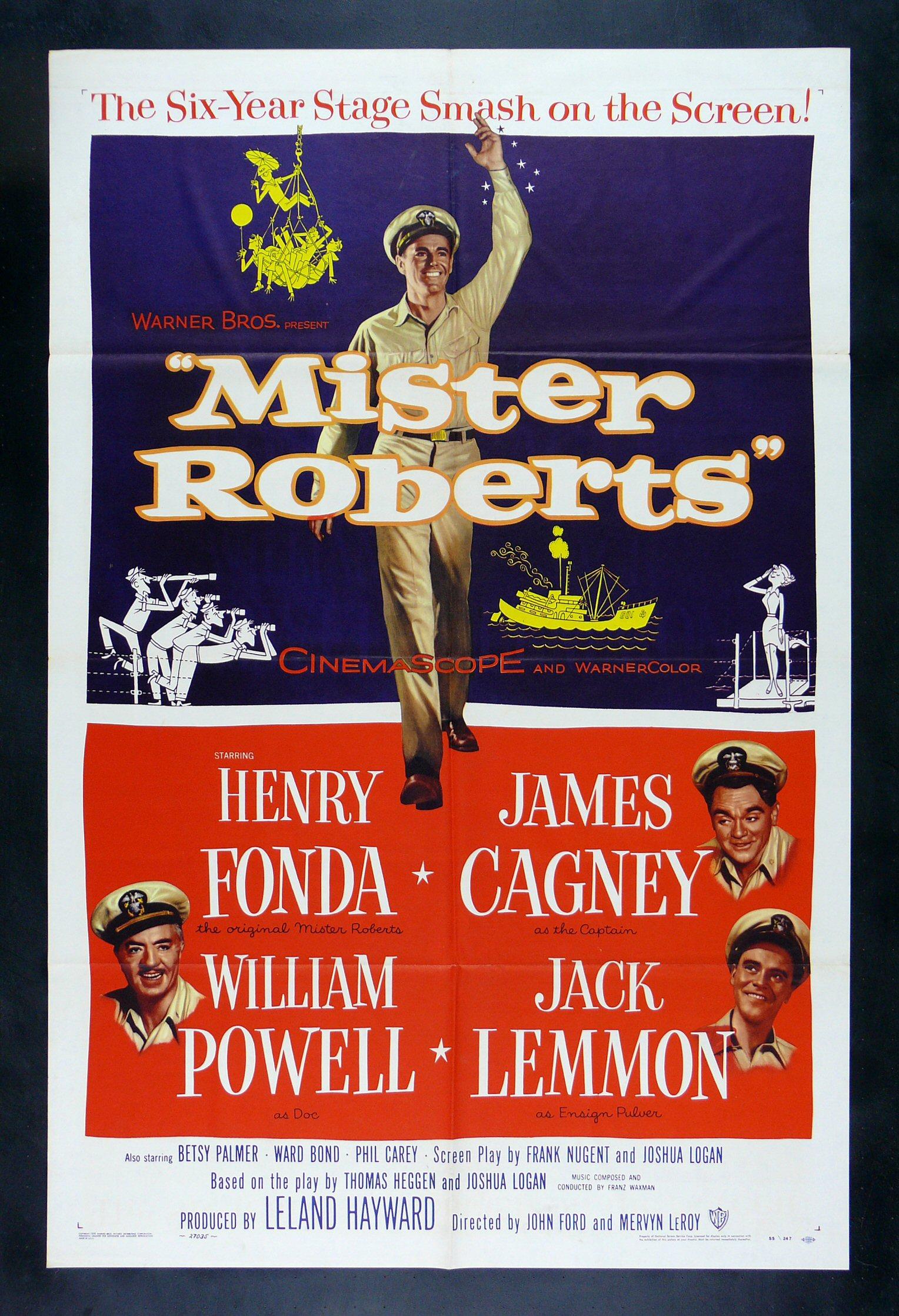 Image result for Mister Roberts 1955 James Cagney