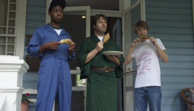 "(L-r) RJ Cyler, Nick Offerman and Thomas Mann star in Fox Searchlight's ""Me Earl and the Dying Girl"""