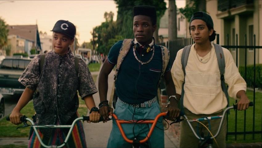 "(L-r) Kiersey Clemons, Shameik Moore and Tony Ravolori star in Open Road Films' ""Dope"""