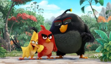 (L-r) Josh Gad, Jason Sudeikis and Danny McBride star in Sony Pictures' ANGRY BIRDS