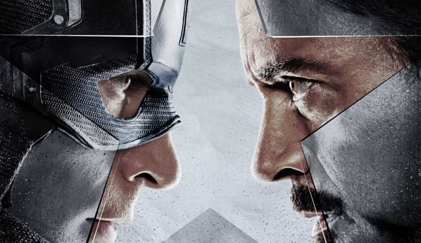 Image of Chris Evans and Robert Downey Jr. in Marvel's CAPTAIN AMERICA: CIVIL WAR