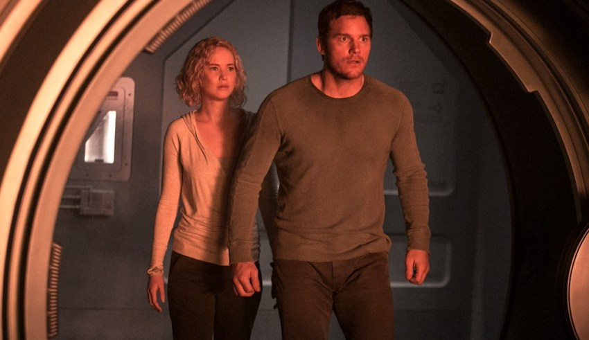 Chris Pratt and Jennifer Lawrence star in Columbia Pictures' PASSENGERS