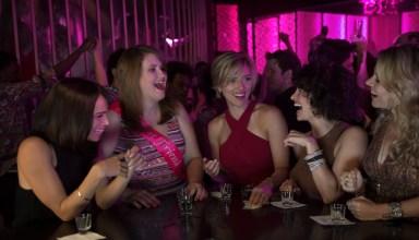 (L to R) Zoë Kravitz, Jillian Bell, Scarlett Johansson, Illana Grazer and Kate McKinnon in Columbia Pictures' ROUGH NIGHT