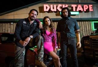 (L-r) Channing Tatum, Riley Keough and Adam Driver star in Bleecker Street's LOGAN LUCKY