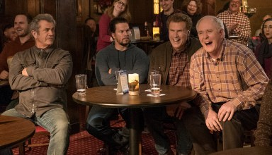 (L-r) Mel Gibson, Mark Wahlberg, Will Ferrell and John Lithgow star in Paramount's DADDY'S HOME 2