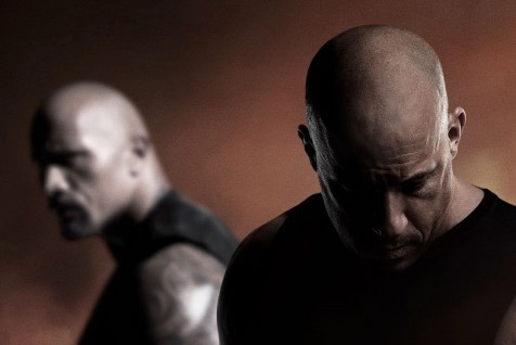 Vin Diesel and Dwayne Johnson star in Universal Pictures' THE FATE OF THE FURIOUS