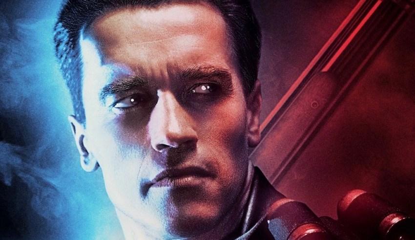 Poster image of Arnold Schwarzenegger in TERMINATOR 2: JUDGEMENT DAY