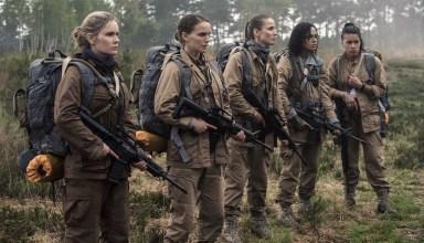 (L-r) Jennifer Jason Leigh, Natalie Portman, Tuva Novotnyin, Tessa Thompson and Gina Rodriguez star in Paramount Pictures' ANNIHILATION