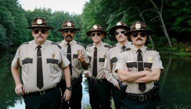 (L-R): Kevin Heffernan, Jay Chandrasekhar, Erik Stolhanske, Paul Soter and Steve Lemme star in Fox Searchlight's SUPER TROOPERS 2