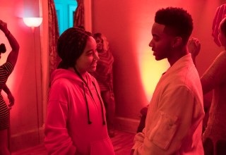 Amandla Stenberg and Algee Smith star in 20th Century Fox's THE HATE U GIVE