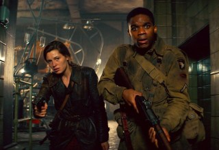 (L-r) Mathilde Ollivier and Jovan Adepo star in Paramount Pictures' OVERLORD