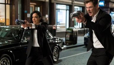 Tessa Thompson and Chris Hemsworth star in in Columbia Pictures' MEN IN BLACK: INTERNATIONAL
