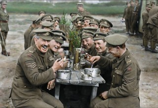 Colorized image from Warner Bros. Pictures' THEY SHALL NOT GROW OLD
