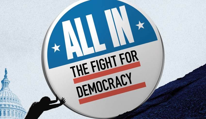 Poster image of Amazon's ALL IN: THE FIGHT FOR DEMOCRACY